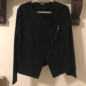 Express Black Suede Moto Jacket